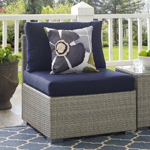 Highland Dunes Heiner Fabric Armless Patio Chair with Sunbrella Cushion