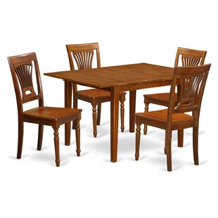 Lorelai 5 Piece Dining Set in, Non-Upholstered Wood Alcott Hill