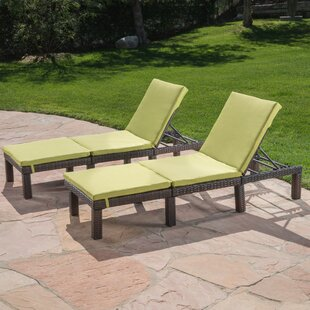 Rusowicz-Orazem Reclining Chaise Lounge with Cushion (Set of 2) by Ebern Designs