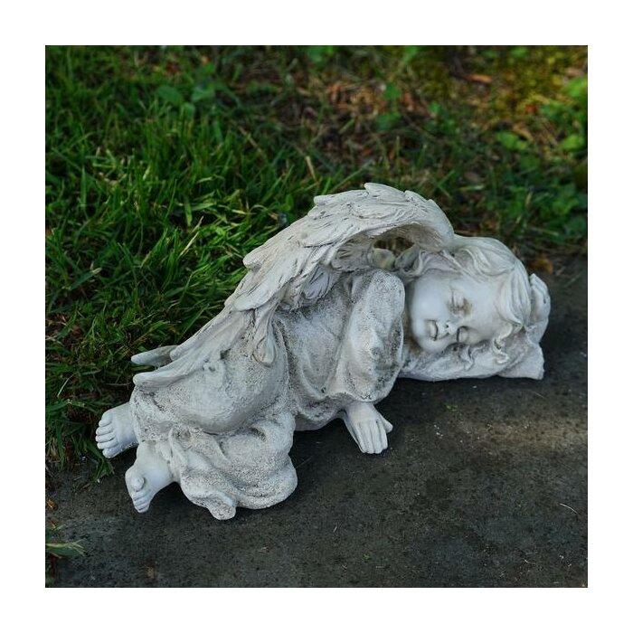 angel garden statue. decorative cherub sleeping angel outdoor garden statue