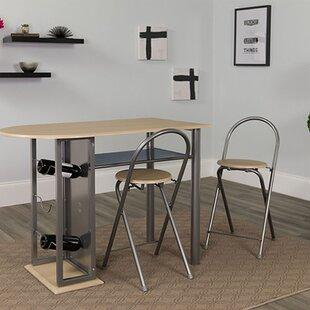 dining table with wine rack wayfair