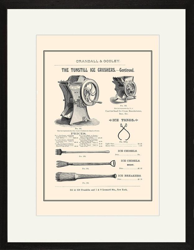 Buyenlarge The Tunstill Ice Crusher Continued Framed Vintage Advertisement Wayfair