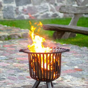 Interlachen Steel Wood Burning Fire Pit By Sol 72 Outdoor