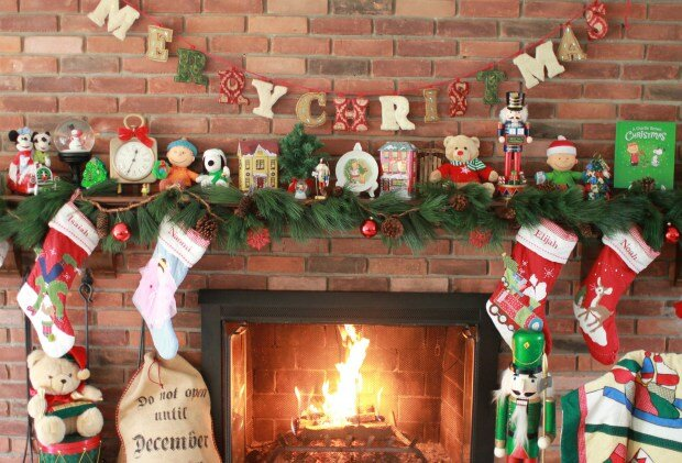 Sadie Carter Sadie's Nest Christmas fireplace mantel