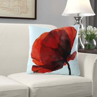 Alger Poppy Throw Pillow