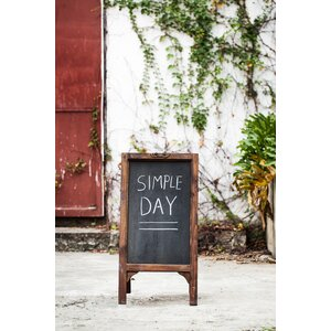 Flores Free Standing Chalkboard
