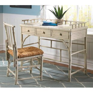 Kenian Coastal Chic Petite Writing Desk and Chair Set