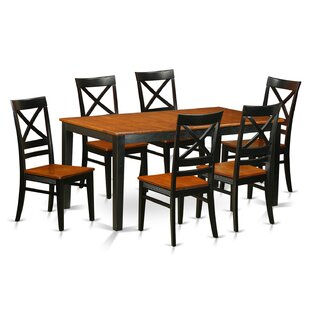 Pillar 7 Piece Rubberwood Dining Set by A..