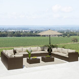East Hope 12 Piece Sectional Seating Group with Cushions by Brayden Studio