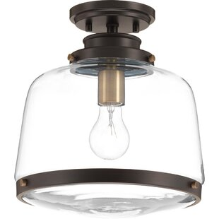 Beachcrest Home Murguia 1-Light Flush Mount