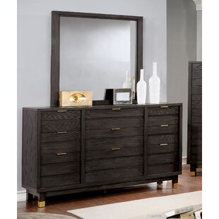 Randeep 9 Drawer Dresser with Mirror