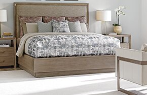 Shadow Play Upholstered Panel Bed By Lexington