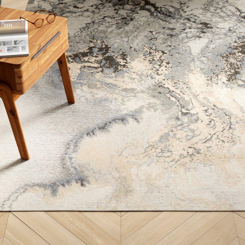 Berkley Gray Abstract Area Rug