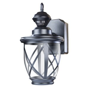 Kansas 150⁰ Motion Activated Decorative 1 Light Outdoor Wall Lantern