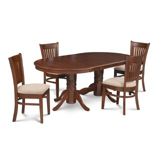 Schacht Traditional 5 Piece Solid Wood Dining Set Winston Porter