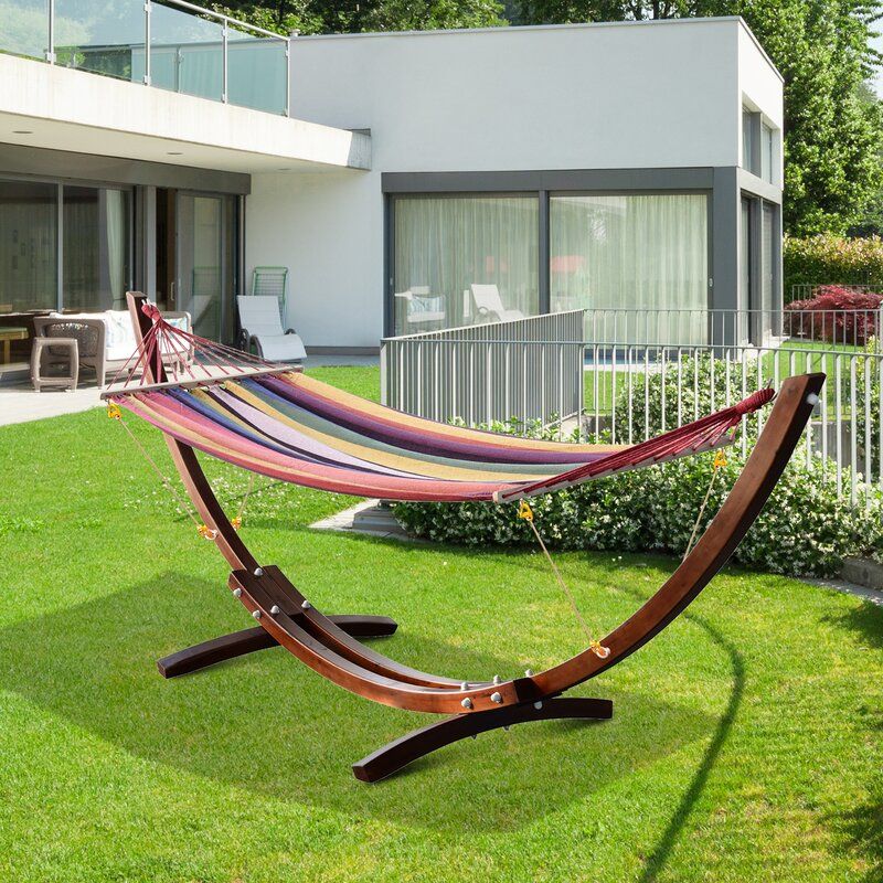 Brayden Studio Gadson Arc Patio Chair Hammock With Stand Reviews