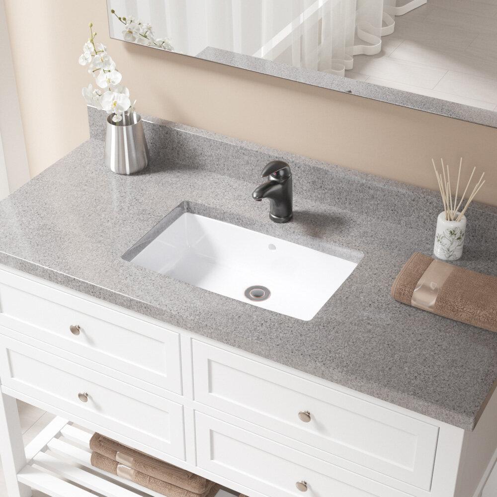 Mrdirect Vitreous China Rectangular Undermount Bathroom Sink With Overflow Reviews Wayfair