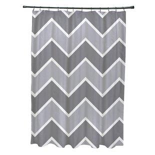 Brayden Studio Costilla Chevron Shower Curtain