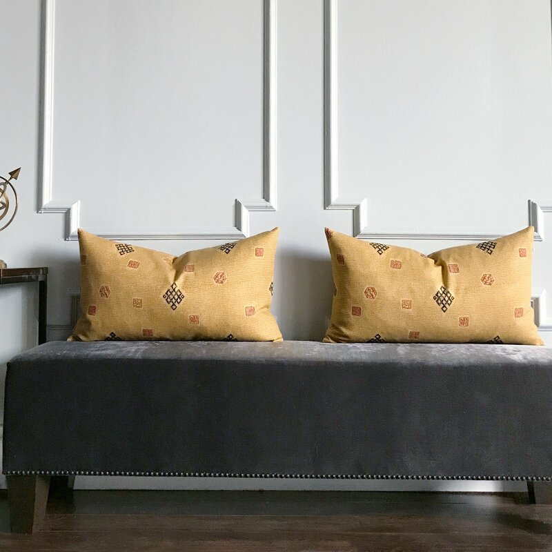 Bloomsbury Market Becher Oriental Asian Print Decorative Pillow Custom Oriental Decorative Pillows
