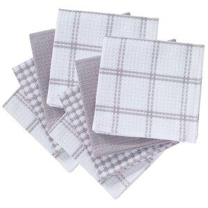 8 Piece Flat Waffle Kitchen Dishcloth Set