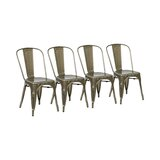 Fineview Metal Stacking Dining Chair (Set of 4) by Trent Austin Design®