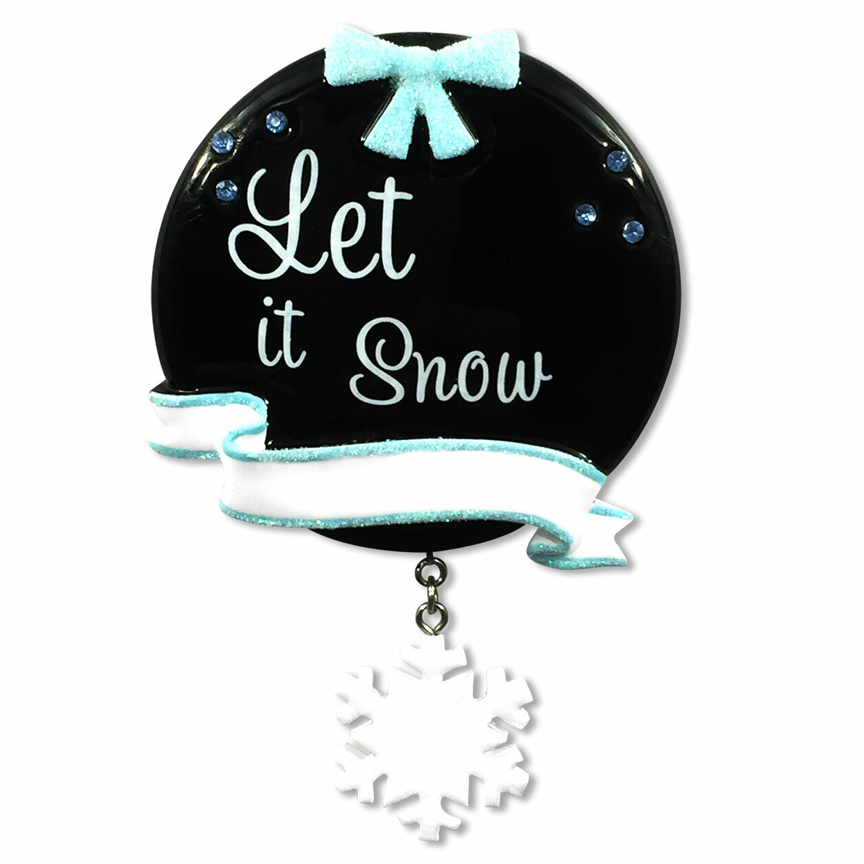 Personalized By Santa Personalized Christmas Chalkboard Let It Snow Shaped Ornament Wayfair