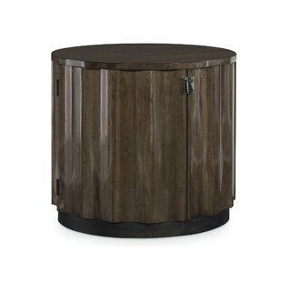 Cachet Drum End Table with Storage