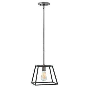 1-Light Square/Rectangle Pendant by Foundry Select