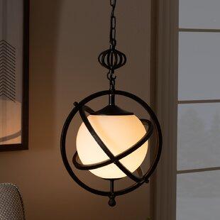 Gokey 1-Light Globe Pendant by Breakwater Bay