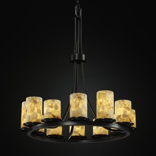 Rosecliff Heights Crosson 12-Light Wagon Wheel Chandelier
