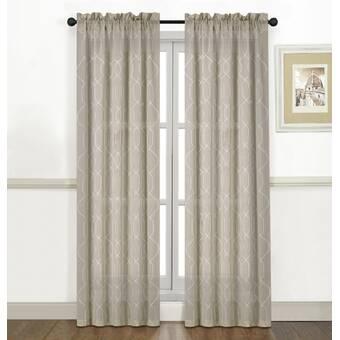 Langley Street Anaheim Geometric Room Darkening Thermal Grommet Single Curtain Panel Reviews Wayfair