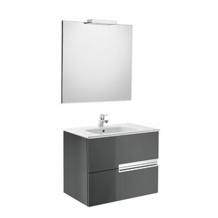 Victoria-N 4-piece Bathroom Furniture Set With Mirror And Light By Roca