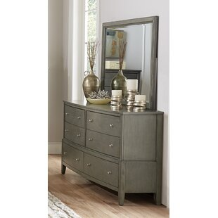 Jeffries 6 Drawer Dresser with Mirror By Wrought Studio