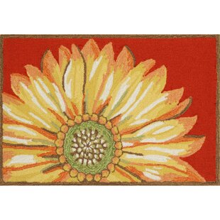 Ismay Sunflower Red Indoor/Outdoor Area Rug