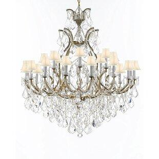 Astoria Grand Maclachlan 25-Light Shaded Chandelier