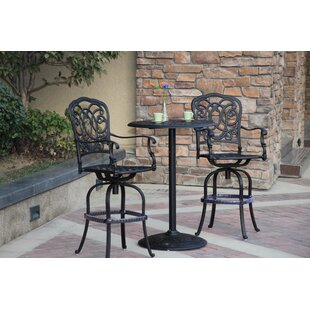 Dolby 3 Piece Bar Height Dining Set with Cushions