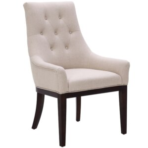 5West Elizabeth Arm Chair in Fabric Cream by Sunpan Modern