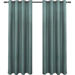 Chevron Blackout Thermal Curtain Panels (Set of 2)
