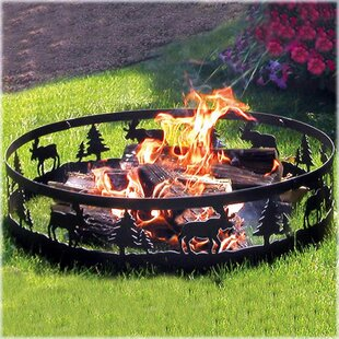 CobraCo Moose Steel Wood Burning Fire ring