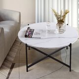 Descombes Cross Legs Coffee Table by Latitude Run®