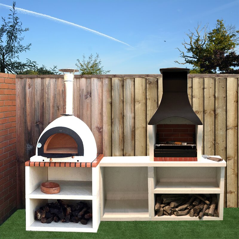 Wildon Home Napoli Outdoor Kitchen Combo BBQ and Wood Fired Pizza Oven | Wayfair.co.uk & Wildon Home Napoli Outdoor Kitchen Combo BBQ and Wood Fired Pizza ...