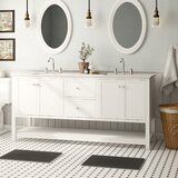 Binne 72 Double Bathroom Vanity Set by Three Posts