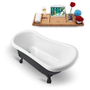 Find 61 x 28 Clawfoot Soaking Bathtub with Tray ByStreamline Bath