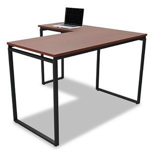 Monterey Laminate L-Shape Credenza Desk by Ebern Designs New Design