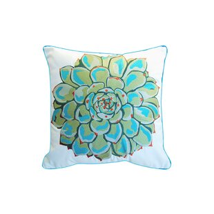 Covin Embroidered Indoor/Outdoor Throw Pillow