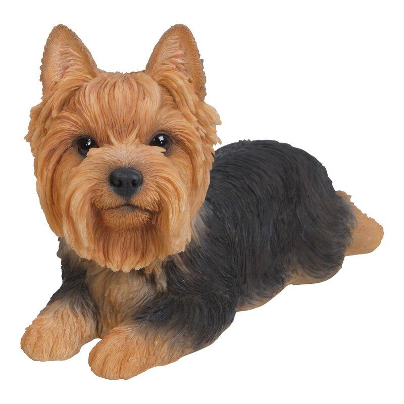 Hi Line Gift Ltd Yorkshire Terrier Dog Lying Down Statue Reviews Wayfair