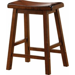 "Weisgerber Wooden Casual 23.75"" Counter Height Bar Stool (Set of 2) by"