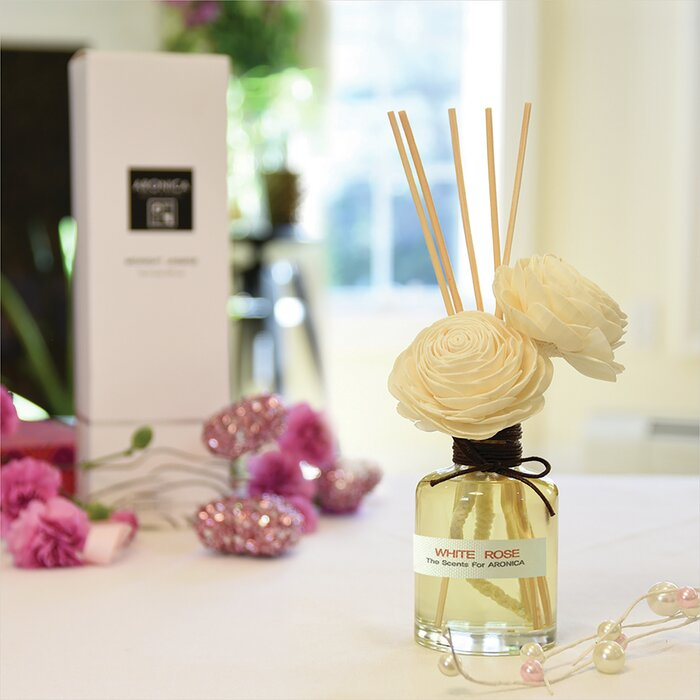 Twin Sola Flower Reed Diffuser - White Rose