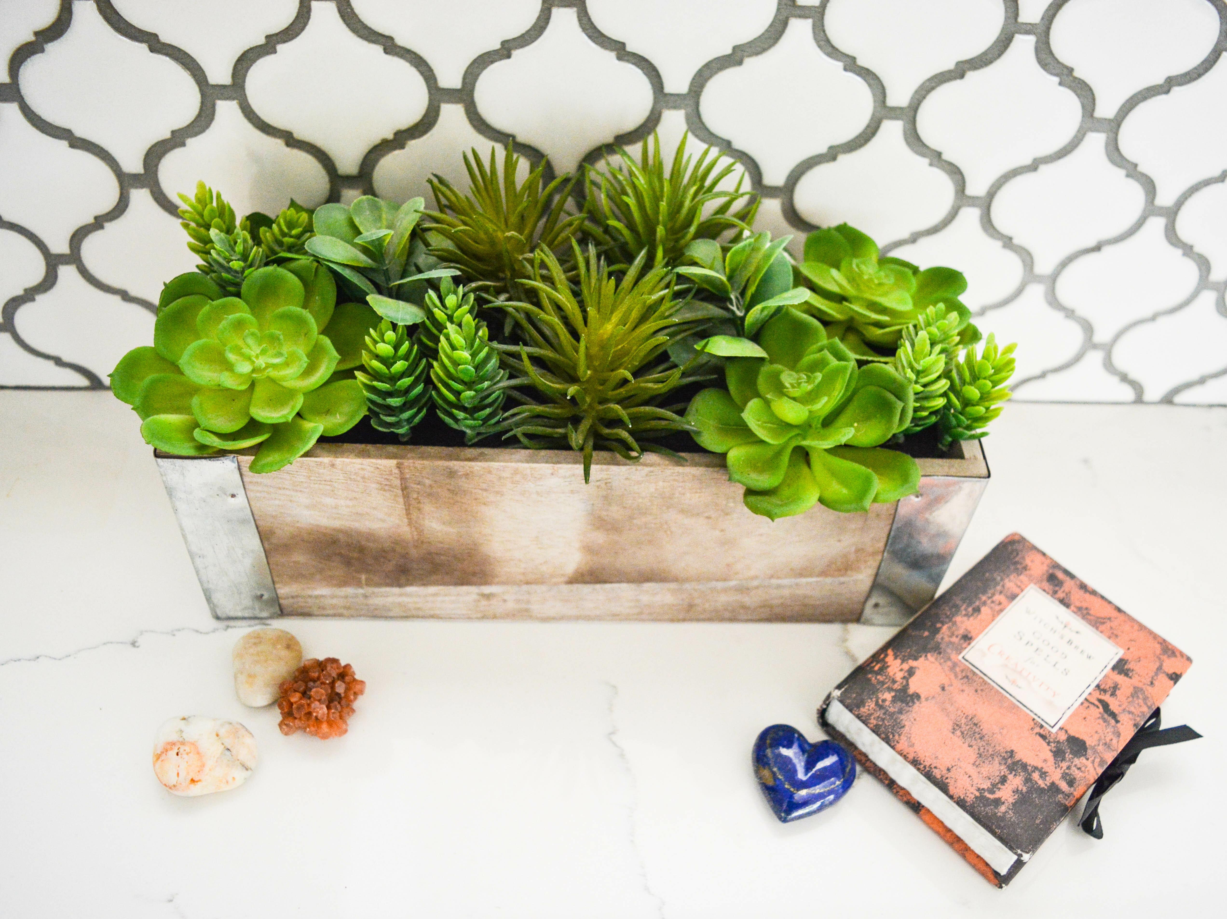 Gracie Oaks Artificial Planterted Mixed Desktop Succulent Plant In Planter Reviews Wayfair