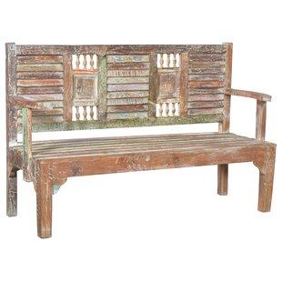 Desirae wooden Garden Bench by Bloomsbury Market